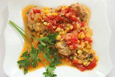 Курятина с кукурузой и овощами http://citywomancafe.com/cooking/28/10/2015/kuryatina-s-kukuruzoy-i-ovoshchami