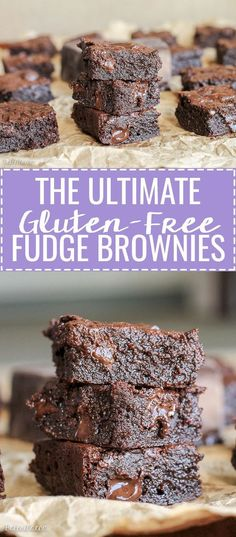 These are the Ultimate Gluten Free Fudge Brownies! This easy recipe makes super … These are the Ultimate Gluten Free Fudge Brownies! This easy recipe makes super fudgy, melt in your mouth brownies. They are also refined sugar free and Paleo-friendly. Paleo Dessert, Dessert Sans Gluten, Dessert Recipes, Cake Recipes, Meat Recipes, Cooking Recipes, Fudge Brownies, Cheesecake Brownies, Brownie Recipes