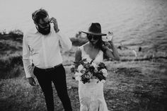 Chris + Kristy's Kelowna elopement at Bertram Park was filled with wind swept hair, a vibrant sunset and so many laughs. It was a perfect summer evening! Elopement Inspiration, Panama Hat, Boho, Park, Couple Photos, Photography, Couple Shots, Photograph, Fotografie