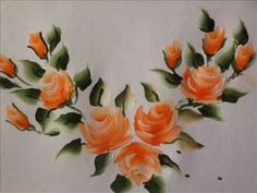 ▶ Rose buds painting with fevicryl acrylic colours - YouTube