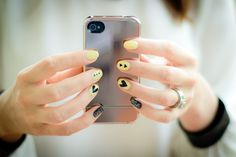 One ring and statement nails