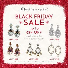 What a bright time! Shop up to 65% OFF all weekend long – hurry now to my #chloeandisabel boutique!