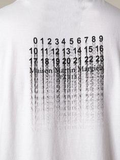 Maison Margiela Faded Print Tshirt in White for Men | Lyst
