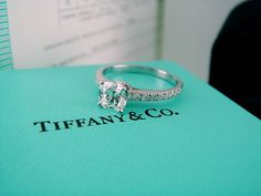 every girl's dream...a Tiffany engagement ring! Absolutely gorgeous but those rings are so expensive