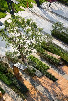 A #commercial #landscape design inside organization compound a stress reducing factor.