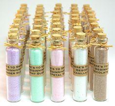 50 Best Bridal Shower Favor Ideas   via http://emmalinebride.com/favors/bridal-shower-favors/   flavored sugar bottles