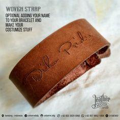 Gelang kulit ukuran 25 mm, Bahan tali :original kulit   Ukuran Panjang Bentang…
