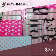 VS pink 16 shopping bag, 4 gift boxes 32 tissues VS bag 2 Large 4 medium 4 small 2 medium gift boxes. Pink bag 2 large 4 medium 2 large gift boxes.  All brand new PINK Victoria's Secret Accessories