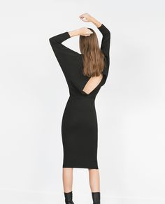 DRESS WITH BACK VENT - View all - Knitwear - WOMAN   ZARA United States