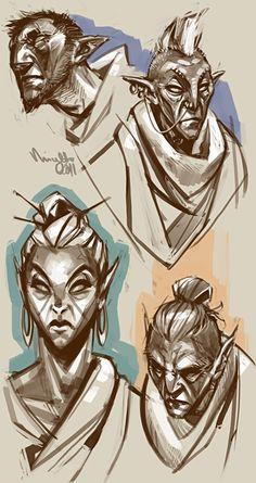 Morrowind natives by TheMinttu on deviantART