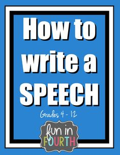 Steps to write a speech