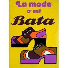 Bata - La Mode C'est Bata - Publicité Vintage 1970 - Sérigraphie