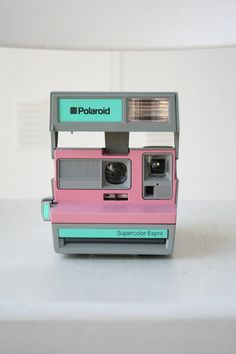 Mint, grey and pink Polaroid. Kickin' it Old School.