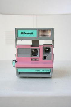 Mint, grey and pink Polaroid. Kickin' it Old School.