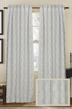 Graceful Ivory Drape Panel   Rug & Home #curtains