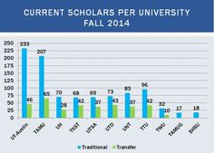 Scholars Enrolled 2014 at Terry Schools By Terry Foundation, Schools, Bar Chart, Image, School