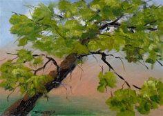 """Solitary Tree 5 x 7 oil on linen $50.00"" - Original Fine Art for Sale - © Vincenza Harrity"