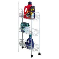 Slimline 3 Shelf Laundry Cart