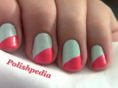 Diagonal French Tip Nails | Polishpedia
