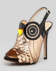 night owl slingback pump, black/rose gold  The shoes IRIS buys for FOX