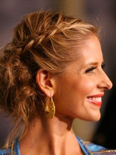 Sarah Michlle Gellar Braided Hairstyle - Celebrity Braid Hairstyles - Real Beauty