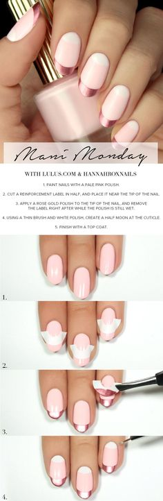 Wunderschöne Nageldesign Ideen + Anleitungen – Leichter als gedacht 15 idées de conception d'ongles + instructions - beaux ongles Nagellack Design, Manicure E Pedicure, Gold Manicure, Gold Nails, Manicure Ideas, Blue Nails, Nail Ideas, Pedicures, Nail Tutorials