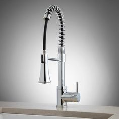 Levi Gooseneck Kitchen Faucet With Pull Down Spring Spout | Kitchen Faucets,  Faucet And Kitchens