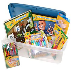 How do You prepare for a rainy day?? Only with the Crayola Rainy Day Fun Kit with Bin..  #24DaysOfCrayola