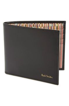 PAUL SMITH Interior Stripe Print Leather Wallet. #paulsmith #bags #leather #wallet #accessories #
