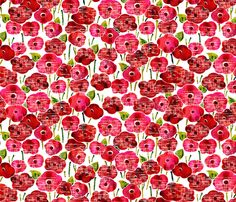 red_poppies fabric by valley_designs on Spoonflower - custom fabric