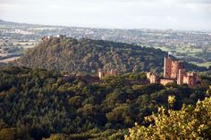 Peckforton Castle and Beeston Castle in Cheshire,UK