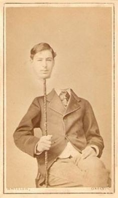 Photographers were already doing some head-slicing magic before Photoshop. http://photoshoproadmap.com/before-photoshop-creepy-headless-portraits-from-the-19th-century/?utm_campaign=coschedule&utm_source=pinterest&utm_medium=Photoshop%20Roadmap&utm_content=Before%20Photoshop%3A%20Creepy%20headless%20portraits%20from%20the%2019th%20century