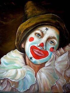 Gruseliger Clown, Clown Pics, Clown Images, Joker Clown, Es Der Clown, Circus Clown, Creepy Clown, Circus Theme, Creepy Vintage