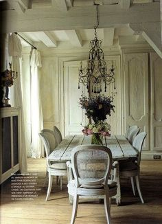 Home Office Neutral Interior Design Idea trends 2012 french country chic // French Country Cottage, French Country Style, French Farmhouse, Country Chic, Rustic French, Farmhouse Table, Farmhouse Chic, Country Farmhouse, Belgian Style