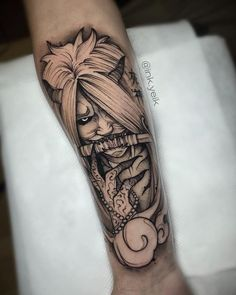 101 Awesome Naruto Tattoos Ideas You Need To See! Forearm Tattoos, Body Art Tattoos, Hand Tattoos, Cool Tattoos, Tiger Tattoo Sleeve, Hannya Tattoo, Japanese Demon Tattoo, Japanese Sleeve Tattoos, Naruto Tattoo