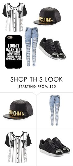 """""""Yes"""" by jayla-baby ❤ liked on Polyvore featuring Moschino and adidas Originals"""