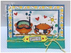 Sara Pieiri: scrap stamping e fantasia: 2 cute ink stamp club - 7/6/16.  (Pin#1: 2 Cute digis.  Pin+: Summer Fun; Sea Life...)