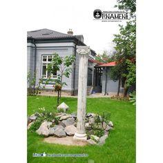 Coloana Ornamentala din beton in Stilul Grecesc Ionic Columns, Gazebo, Arch, Outdoor Structures, Garden, Decor, Houses, Greece, Kiosk