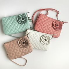 Quilted bags with rose detail are the perfect companion for all your spring outings. #MeijerStyle