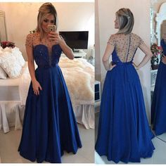 "Charming Prom Dress,Beading Prom Dress,A-Line Prom Dress,Short Sleeve Prom Dress,O-Neck Prom Dress How to Order: How to choose color after purchase Step 1: click on ""Add to Cart"" Step 2: choose check out Step 3: fill your Standard size or Custom size,to make perfect fit,we suggest fill ..."