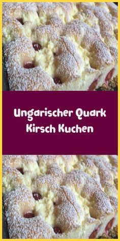 Hungarian curd cheese cake-Ungarischer Quark Kirsch Kuchen Ingredients For the dough: 3 eggs 200 ml milk 200 ml oil 250 ml sugar 500 ml flour 1 pack baking powder For the curd filling: 2 … - Vegan Breakfast Recipes, Healthy Dessert Recipes, Smoothie Recipes, Healthy Smoothies, Banana Recipes, Easy Cake Recipes, Canned Blueberries, Vegan Scones, Desserts Sains