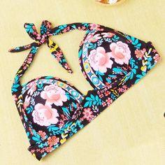 Fashion high waist print bikini