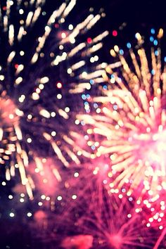 Fireworks iPhone screen
