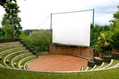 Outdoor cinema Amphitheatre for outdoor fun and bands Outdoor Stage, Outdoor Cinema, Outdoor Theater, Outdoor Fun, Amphitheater Architecture, Landscape Architecture, Architecture Design, Landscape Stairs, Urban Landscape