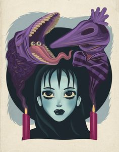 """Ghost With the Most & Lydia by Dave Quiggle 11"""" X 14"""" prints. S/N edition of 30, available HERE. Part of the """"Both Sides"""" art show at Gallery1988, celebrating heroes and villains along side artists..."""