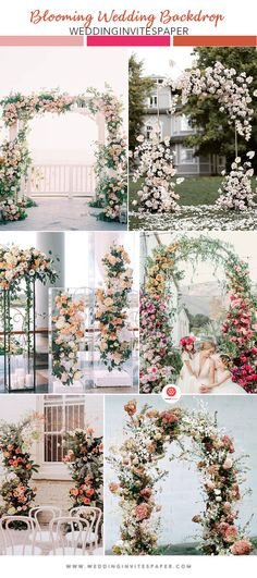 The ceremony backdrop is the focal point of the moment when you exchange vows and draw the catch of all guests all day. Wedding Arches, Ceremony Backdrop, Vows, Color Pop, Backdrops, Bloom, Baby Shower, Celestial, Table Decorations