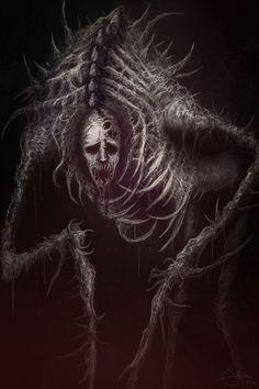 Pin de hector eduardo lestrange en macabre inspi art en 2019 демоны, тьма y Monster Concept Art, Fantasy Monster, Monster Art, Dark Creatures, Fantasy Creatures, Arte Horror, Horror Art, Dark Fantasy Art, Creepy Monster