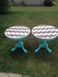 Chevron end tables