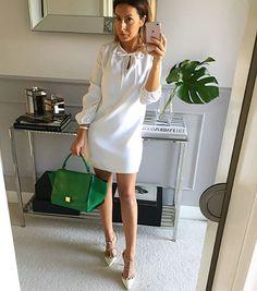 #sukienka z wiązaniem przy dekolcie Mint Label, dostępna również w kolorze różowym  #mint_label_ #shopping #mode #fashion #streetfashion #streetstyle #ootd #outfit #outfitoftheday #style #look #