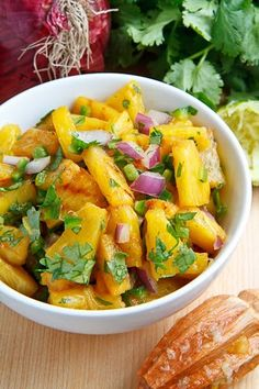 Grilled Pineapple Salsa  Servings: makes 4 servings  Prep Time: 5 minutes  Cook Time: 10 minutes  Total Time: 15 minutes    Ingredients      1/2 pineapple, Peeled, cored and sliced 1/4 inch thick      1/2 red onion, diced      1 jalapeno chili pepper, finely diced      1 lime, juice and zest      1/4 cup cilantro, chopped      salt to taste
